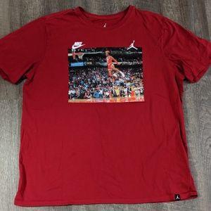 Nike Jordan 3:51 Slam Dunk Contest XXL Red T Shirt